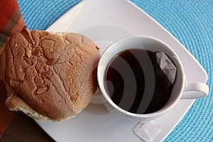 Tea And Chinese Sponge Cake Stock Image - Image: 16673411