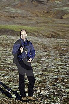 Man Taking A Photo Stock Image - Image: 16676431