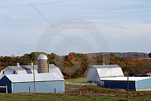 New England Farm In Fall Stock Image - Image: 16678081