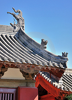 Roof And Eave Detail Of Chinese Old Architecture Royalty Free Stock Photo - Image: 16679725