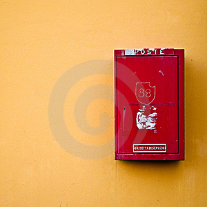 Red Postal Box For Snail Mail Royalty Free Stock Photo - Image: 16681395
