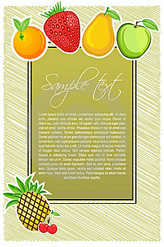 Abstract Fruit Text Template Royalty Free Stock Images - Image: 16684479