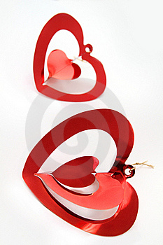 Red Shiny  Hearts Royalty Free Stock Image - Image: 16684746