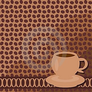 Background With Cup Of Coffee Royalty Free Stock Photo - Image: 16685345