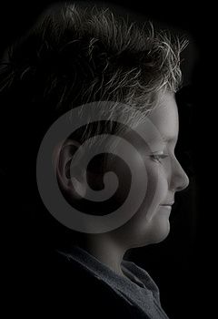 Side Portrait Of A Boy Royalty Free Stock Image - Image: 16685896