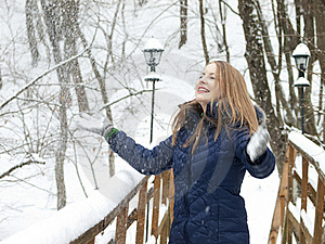 Snow Girl Stock Images - Image: 16687434