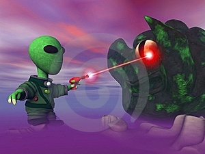 Alien And Blob Stock Photo - Image: 16687550