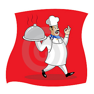 Cook Serving Food Stock Photography - Image: 16687872