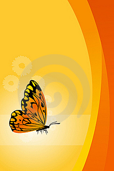 Vector Floral Background With Butterfly Royalty Free Stock Photos - Image: 16690538