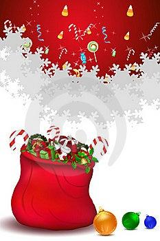 Santa Bag Full Of Gifts Stock Photo - Image: 16690700