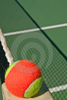 Tennis Ball And Shadow Net Stock Images - Image: 16692244