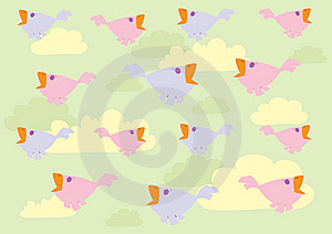 Birds In The Sky Royalty Free Stock Photos - Image: 16692568