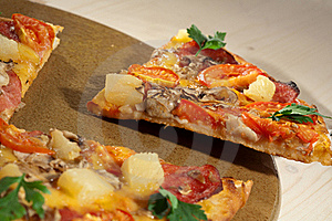 Hot Taste Pizza On The Table Royalty Free Stock Photo - Image: 16693555
