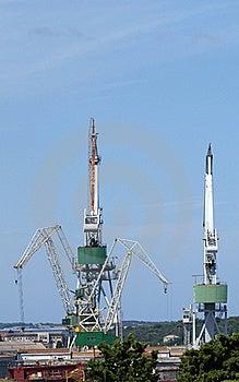 Marine Cargo Port. Cranes. Croatia Stock Photos - Image: 16694653