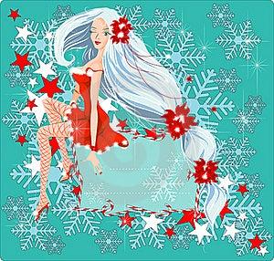 Sexy Santa Girl Card Royalty Free Stock Photography - Image: 16696967