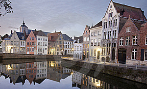 Canal In Bruges Stock Photography - Image: 16698122
