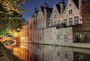 Canal In Bruges Stock Images - Image: 16698154