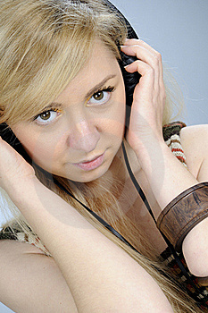 Woman Relaxing With Music Stock Images - Image: 16698314