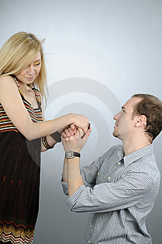 Young Couple Celebrating Love Royalty Free Stock Images - Image: 16698349