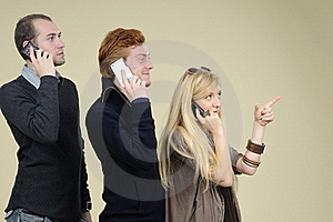 Young Team Communicating Royalty Free Stock Images - Image: 16698379
