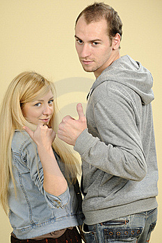 Teens Showing Ok Sign Stock Images - Image: 16698494