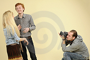 Teens Posing For Photographer Royalty Free Stock Photo - Image: 16698525