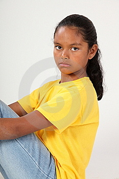 Serious Expression From Pretty Young School Girl 9 Stock Images - Image: 16698854