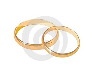 Two Wedding Rings Isolated Stock Image - Image: 16699861