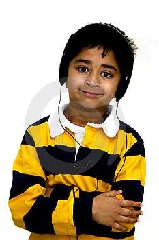 Kid Enjoying Music Royalty Free Stock Photos - Image: 1671118