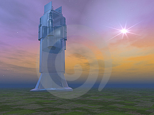 Futuristic Crystal Building Stock Photography - Image: 1671312