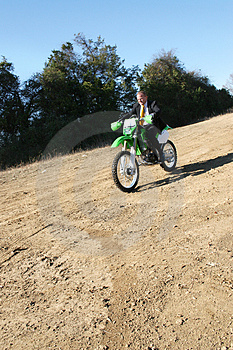 Businessman On Dirt Bike Stock Image - Image: 1678591