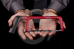 Arrested In Handcuffs Royalty Free Stock Image - Image: 16702916