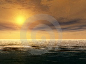 Ocean Sunset Royalty Free Stock Photo - Image: 16704515