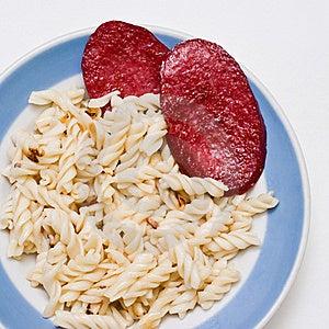 Garnish With Bratwurst. Stock Photo - Image: 16705120