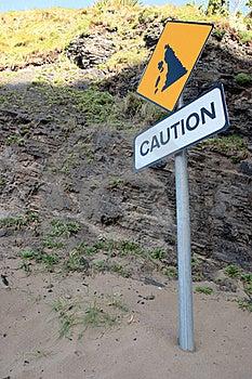 Landslide Caution Sign Stock Images - Image: 16706804