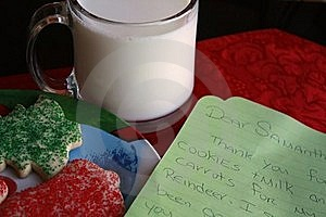 Milk And Cookies For Santa Stock Images - Image: 16707034