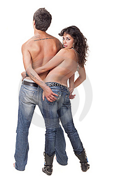 Young Couple Topless Stock Photography - Image: 16708492