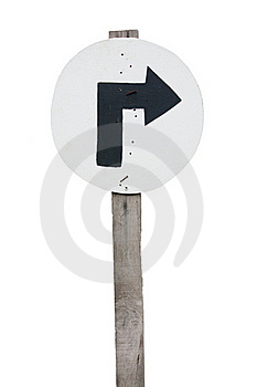 Signs And Turn Right. Royalty Free Stock Photos - Image: 16709408