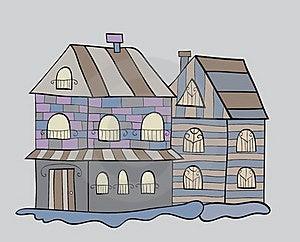 Houses Background Stock Photography - Image: 16709732