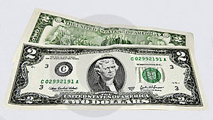 United States Two Dollar Bills Royalty Free Stock Photos - Image: 16710638