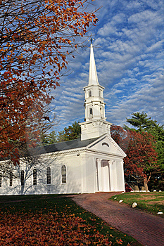 Autumn Chapel Stock Images - Image: 16710964