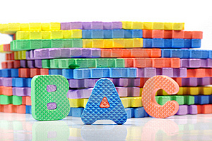 Colorful Letter Mat Stock Image - Image: 16710981