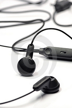 Black Earphone. Stock Photos - Image: 16711033