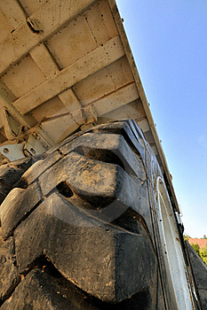 Tyre And Body Of Big Construction Equipment Stock Photos - Image: 16711123