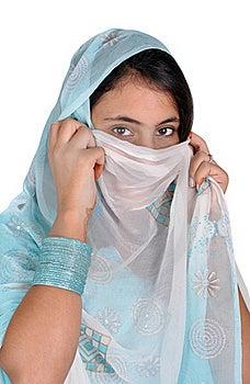 Girl In Arabian Pose Royalty Free Stock Photo - Image: 16717655