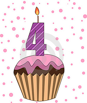 Cup Cake With Numeral Candles Royalty Free Stock Images - Image: 16718499