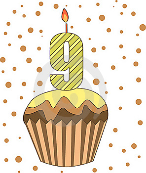 Cup Cake With Numeral Candles Royalty Free Stock Images - Image: 16718579