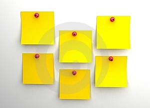 Yellow Post It Royalty Free Stock Photography - Image: 16718727