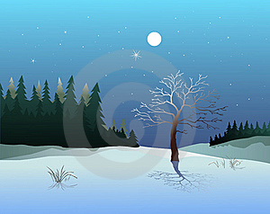Winter Landscape Royalty Free Stock Images - Image: 16720279