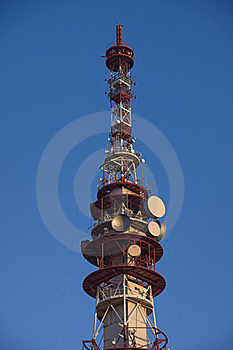 Television, GSM And Internet Transmission Tower Royalty Free Stock Image - Image: 16720826